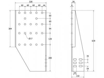 SIVULEVYPARI DU K639XL32 B190 (2KPL)